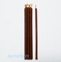 Свеча восковая коричневая № 120