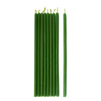Свеча восковая зелёная № 60 (1 час 30 минут)