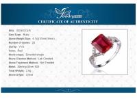 """Кольцо """"Магия"""" серебро 925, рубин"""