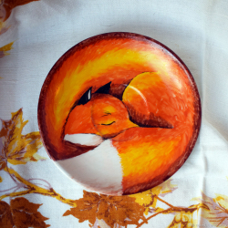 Чайная пара - Спящая лисичка