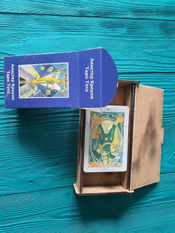 Березовая шкатулка для карт Таро