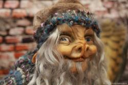 Кукла-Оберег дома и Границ Домовой-Шишок КОрза Доброхот
