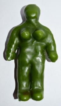 Кукла восковая, жен. (вольт), зелёный